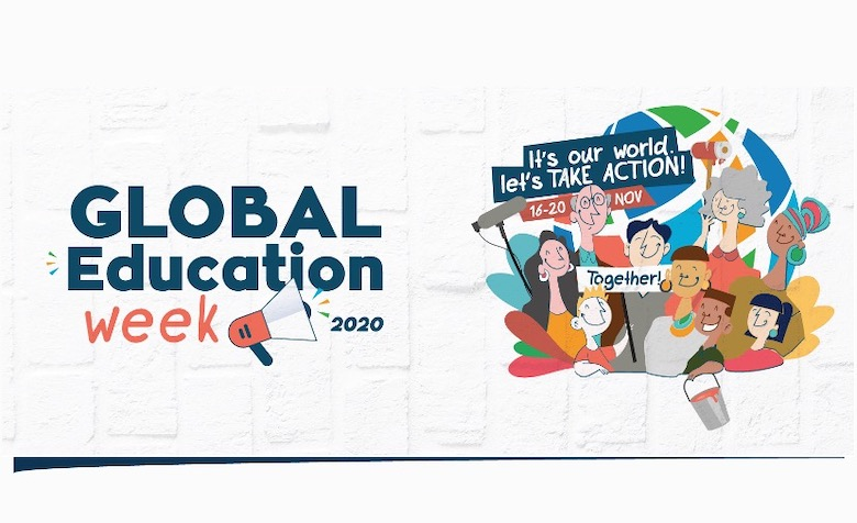 Grafik mit Aufschrift: Global Education week 2020